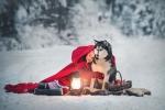 zimowa sesja z husky