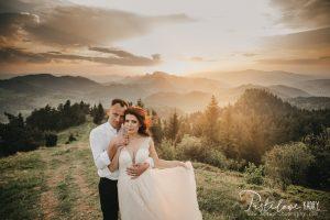 sesja ślubna na szczycie Pieniny