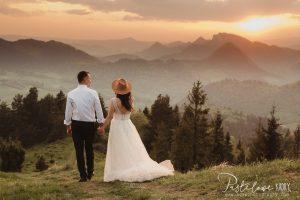 sesja ślubna z widokiem na góry