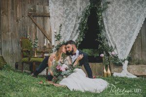 boho sesja ślubna